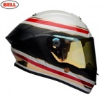 Bell Street 2018 Race Star Helmet - RSD Formula White/Red