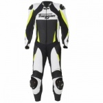 Furygan Full Apex 1 Piece White/Fluo - Free Forcefield L2K Back Protector