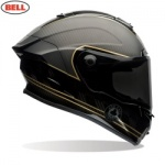 Bell Street Race Star Adult Helmet  - Speed Check Matte Black/Gold