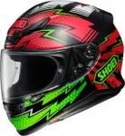 Shoei NXR Variable - TC4 - Green/Red - FREE Dark Visor