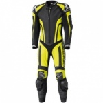 Held Fast Pace 1 Piece Leather Suit - Black/Fluorescent Yellow