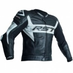 RST Tractech Evo R CE Leather Jacket - Black/White