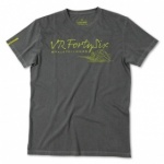 VR46 Rossi Forty Six T-Shirt - Grey
