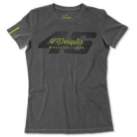 VR46 Ladies Rossi Forty-Six T-Shirt - Grey
