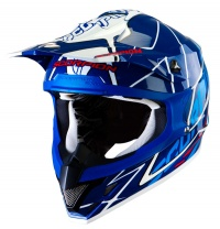 Scorpion VX15 Sprint Blue White Moto x Helmet