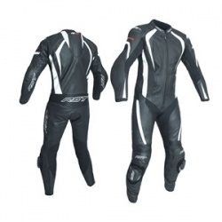 RST R-18 CE One Piece Leather Suit - Black/White