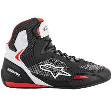 Alpinestars Faster 3 Rideknit Shoes Black/White/Red