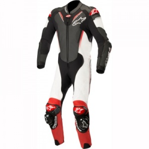 Alpinestars Atem V3 1 Piece Leather Suit Blk Wht & Red