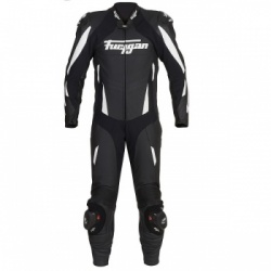 Furygan Full Apex 1 Piece - Black/White - Free Forcefield L2K Back Protector