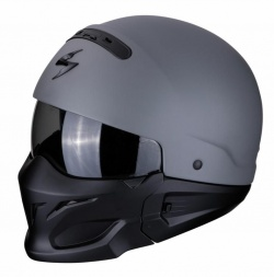 Scorpion EXO Combat Motorcycle Helmet Cement Grey