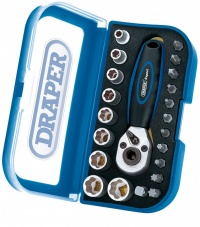 Draper DDS1 Expert 1/4'' Sq Drive 22 Piece Double Driver Socket and Bit Set