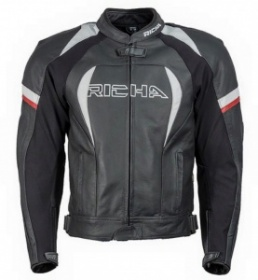 Richa Piranha Leather Jacket - Black/White