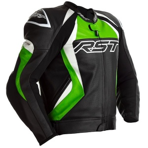 RST TRACTECH EVO 4 CE MENS LEATHER JACKET - BLACK / GREEN