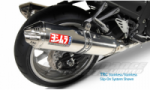 KAWASAKI ZZR 1400 08-11 TRC Tri-Oval Slip Ons RACE (Removable Baffle) Stainless