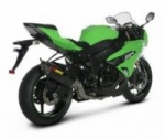 ZX6R 09> Complete Stainless System 4-2-1 - Carbon Silencer - E marked