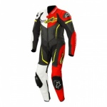 Alpinestars Youth Cup GP Plus Leather Suit Black White Red & Yellow