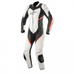 Alpinestars Stella Kira 1 Piece Eace Suit Black White & Red Fluo