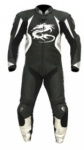 Arlen Ness 8307 Black/White Leather Suit