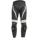 RST TRACTECH EVO 2 LEATHER TROUSERS BLACK-WHITE