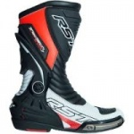 RST TRACTECH EVO III SPORT CE MENS BOOT - WHITE AND FLO RED