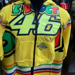 VR46 FULL ZIP HOODIE STRIPES